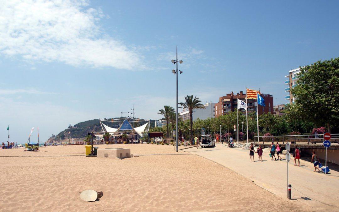 Strand von Calella in Spanien