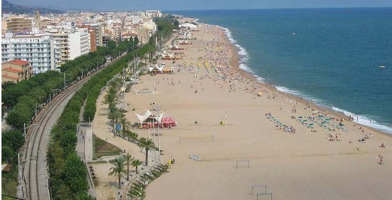Strand von Calella, Spanien
