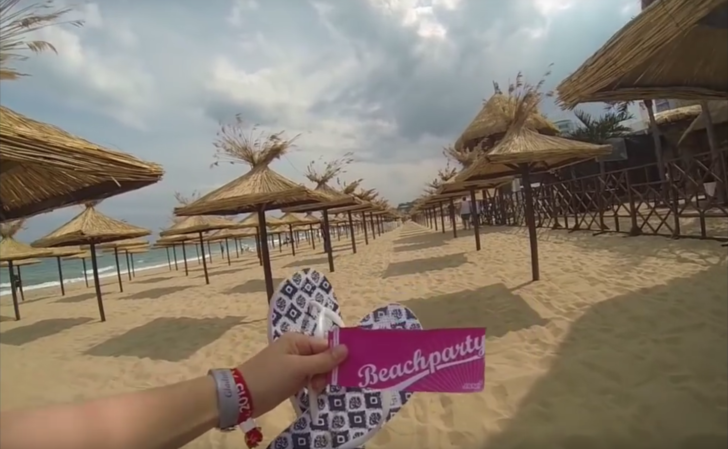 Beachparty am Goldstrand in Bulgarien