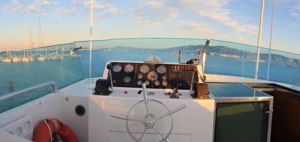 Yacht mit Blick auf St. Tropez