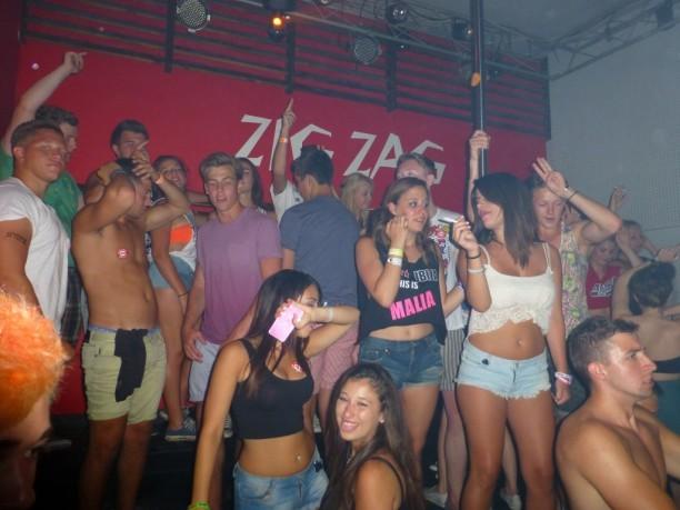 Partyort Malia auf Kreta in Griechenland