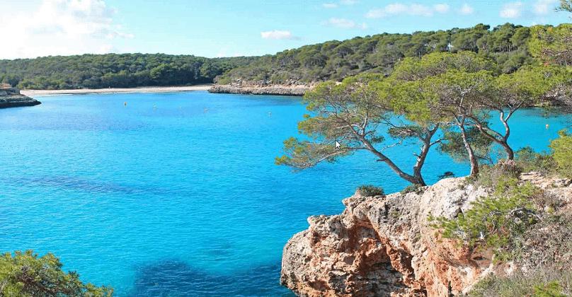 Strand und Bucht auf Mallorca