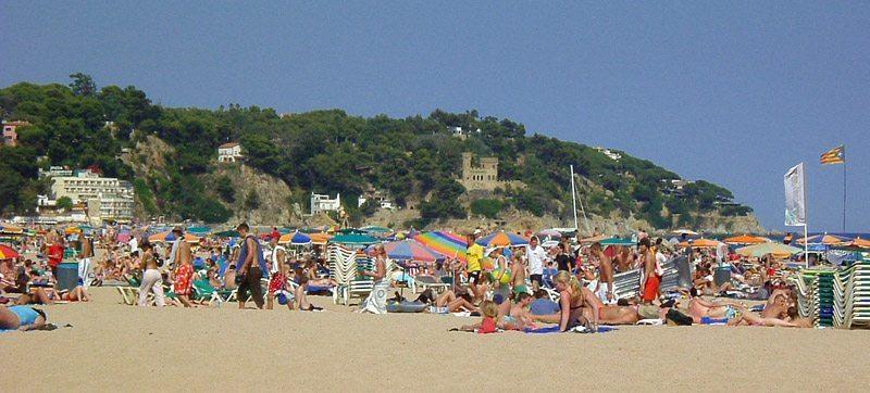 Strand in Lloret de Mar, Spanien