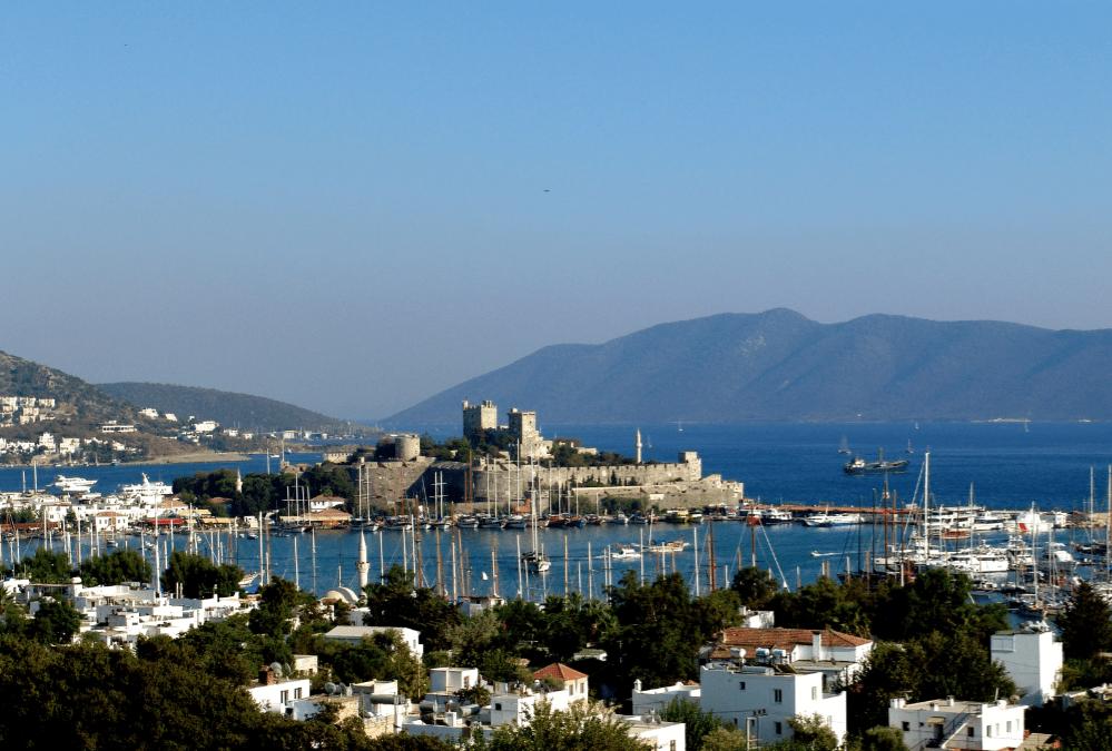 Stadt und Hafen in Bodrum, Türkei