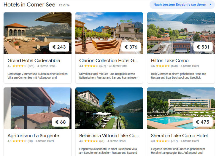 4 Sterne Hotels am Comer See