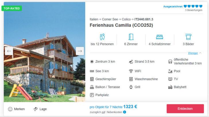Ferienhaus Camilla am Lago di Como