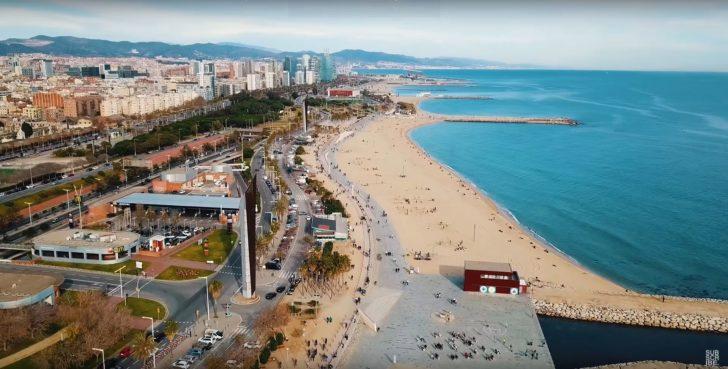 Die Strandpromenade in Barcelona